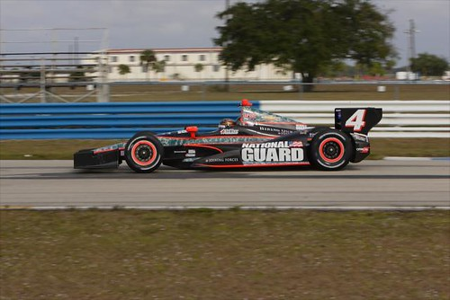 JR Hildebrand drives the No. 4 National Guard Panther Racing Chevrolet