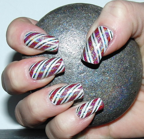 Candy Cane Manicure