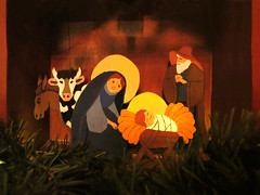 Holy Family in the Stable * MERRY CHRISTMAS to all my flickr friends* (Batikart) Tags: christmas xmas family winter light home canon germany weihnachten festive season geotagged joseph fun deutschland hope holidays europa europe december traditional mary jesus joy decoration culture donkey straw tranquility atmosphere happiness scene ox celebration indoors homemade crib manger yule leisure tradition relaxation sensuality awe ursula stable nativity enjoyment plywood 2012 confidence holyfamily sander g11 krippe crche fellbach warmness 100faves viewonblack handicrafted batikart canonpowershotg11 201311