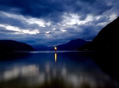 Kinsarvik by night (Stiginho) Tags: ferry landscape fujifilm longexposure nightphotography fjordsofnorway hardanger kinsarvik