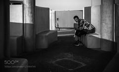 *** (hammockbuddy) Tags: ifttt 500px line street nature light shadow square uk england fuji blackandwhite streets art form streetlife staring shape human rectangle fujifilm negative space photography streetphotography lancashire blackpool staredown positive