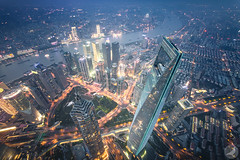Top of Shanghai (/DoveLee/LiGe) Tags: shanghai china city cityscape architecture urban night lujiazui