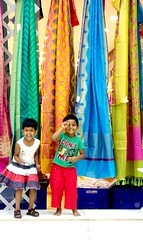 Colours of Joyfulness ( Kaaviyam Photography) Tags: kaaviyamphotography art rainbowcolors colorful joy coloursofjoy silksari silksarees preethikutty jeevaprabhanjan preethi dancing smiling kids joyful mobileshot randommobileshot chennaisilks shop windowshopping joyfulness happiness