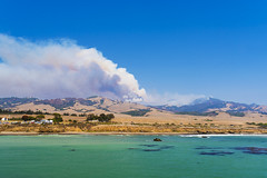 California Wildfire 2016 (FengboLi) Tags: california calibrio pacificcoastalhighway ca landscape outdoor fire firefighter wildfire smoke clouds sky dry drought