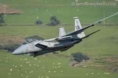 USAF F-15D 'Wardog' flight 493rd FS. (Tom Dean.) Tags: eagleusaf f15d machloop eagle nikon low level