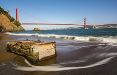 Kirby Cove (brother1909) Tags: goldengatebridge sanfrancisco kirbycove beach treasure california longexposure ndfilter