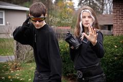 Halloween, 2014 (Kristin Small Photography) Tags: rogue cyclops marvel halloween costume cosplay xmen mutants teens