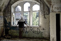NEW WORLD ORDER (Wendelin Jacober) Tags: new world order newworld beelitz heilstdten hdr spray paint portait deep royaltyfree free cc creative commons ccfree publicdomain jacober photography wendelin