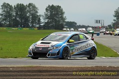 Battle of Britain meeting Croft 2016_0015   28-08-2016 (ladythorpe2) Tags: darlington district motor club north yorkshire croft circuit battle britain august 2016 northern saloon sports car nsscc honda civic type r saloons cars classes a e race 4 80 finley crocker tcr 6th over all