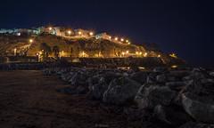 Luces nocturnas (svg74) Tags: lights night nocturna beach playa landscape caladelmoral rincndelavictoria longexposure mlaga andalusia noche