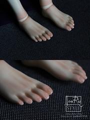 Pedicure (LeaRio Style) Tags: bjd bjds blushing parts forbjd balljointeddoll ringdoll foot foots pedicure