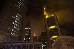 Frankfurt am Main by night II (Splitti68) Tags: europa europe deutschland germany hessen frankfurtammain frankfurt hochhaus architektur architecture archtectur nachtaufnahme licht lichter nebel nebelstimmung splitti splitti68 splittstser splittstoesser