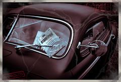 Missing invitation (ericbaygon) Tags: car voiture vhicule d300s nikon nikonpassion american amricaine carte postal postale meeting sepia vintage oldschool