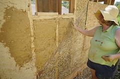 clay slip over straw (The Year of Mud) Tags: theyearofmud naturalbuilding cob clayplaster lightclaystraw berea kentucky southslopefarm