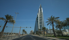 road to bahrain world trade center (azahar photography) Tags: bahrain capital city manama world harbour towers trade center icon iconic building office offices estate real hirise corporate corporation business businesses multistorey multi property realty realestate architecture highrise buildings tall arab middle east mideast arabian majestic skyline modern bahraini tower azaharphotography