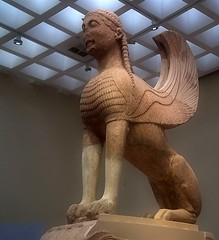 The Naxian Sphinx Archaeological Museum of Delphi (mariuszj8) Tags: naxian sphinx archaeology delphi marble
