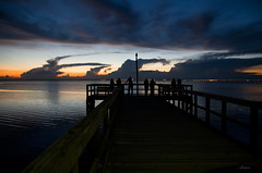 Last light (lamnn92) Tags: mobile daphne alabama pier sunset clouds water bay sunsetwatchers seascape colors pentax k50 sigma 1750mm
