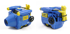 Mini Racers: Ballistic Belville Bear (Unijob Lindo) Tags: lego leg godt mini miniature racer racers racing kart mario belville bear blocks blue yellow shell nascar power beartech powered fuel cannon cone cylinder stripes wheel lever steering tire tyre photo teddy plush animal fig figure turbines turbine competition wheels champion speed friends slopes curved