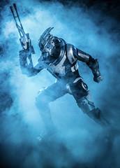 Garrus Vakarian (adenry) Tags: cosplay costume portrait aniventure garrus vakarian mass effect masseffect smoke studio