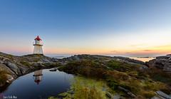 Ansteins fyr (HrNes) Tags: facebook instagram fyr lighthouse kristiansand norway srlandet seascape coast kyst d750 nikond750 september sunset reflection water