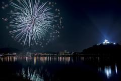 Inuyama Castle Fireworks (acase1968) Tags: castle river japan hanabi matsuri taikai nikon d600 nikkor 24120mm f4g night photography