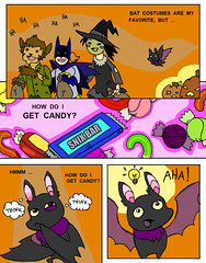 Bat-o-ween, pg 2 of 4 (Fox Mime) Tags: halloween minicomic