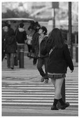 The front of JR Sakuragi-cho station (Delytayan Third) Tags: bw japan 日本 yokohama kanagawa minatomirai 横浜 神奈川 みなとみらい 白黒 桜木町