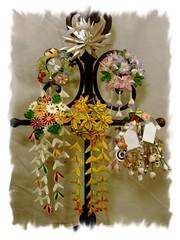 Jr. maiko mini kanzashi, July to December (EruwaedhielElleth) Tags: flowers hair japanese clips pins maiko fabric ornaments hana geisha accessories folded tsumami hairpins kanzashi kisetsubana imlothmelui