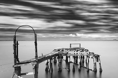 house of the winds (nicola tramarin) Tags: longexposure sea sky bw italy house casa italia nuvole mare cove delta cielo po bianconero paesaggio biancoenero adriatico veneto desertedhouse sacca rovigo monocromatico lungaesposizione deltadelpo blackwhitephotos saccadiscardovari scardovari polesine intentionalcameramovement nicolatramarin