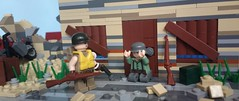 """A Lifetime Of War"" (-Aldin.) Tags: world two brick army war arms lego m1 german 506 fp normandy weapons 1944 101st garand pir kar98 brickarms"