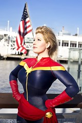 Captain Marvel (BelleChere) Tags: america comics costume cosplay captain intrepid marvel heroic nycc
