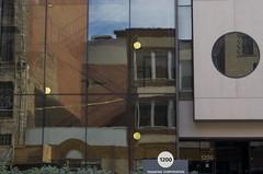 Penn Buildings (annburlingham) Tags: city urban distortion brick glass buildings reflections lights pittsburgh pennsylvania sunday number round winner 1200 zigzag rectangles oldandnew pennavenue tcf sooc thechallengefactory nonnaturereflection transtarcorporation