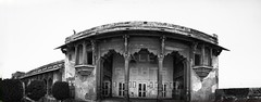 Jahangir's Quadrangle - Lahore Fort (z) Tags: city original pakistan bw panorama white black west by architecture hall fort muslim british suite quadrangle lahore oldcity walled lahorefort constructed interventions mughal mughals jahangirs  maghrabi widescape