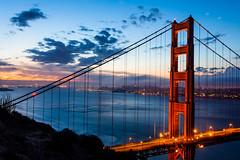 Golden Gateway (Bryan Nabong) Tags: sanfrancisco california longexposure water northerncalifornia clouds dawn bay unitedstates goldengatebridge northamerica geography marinheadlands batteryspencer themes hendrikpoint 112for2012