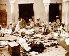 Tailors in Constantine (Algeria) near 1913 (Benbouzid) Tags: africa de algeria near north constantine terre maghreb rue algrie assis par tailors 1913   scne     tailleurs   algriens