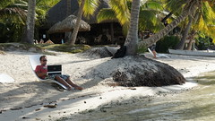 """My beach desk, actually had wireless here! • <a style=""""font-size:0.8em;"""" href=""""http://www.flickr.com/photos/87636534@N08/8198811560/"""" target=""""_blank"""">View on Flickr</a>"""