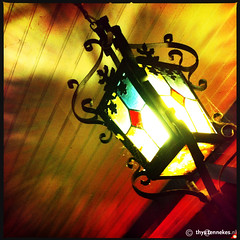 Lantern (Thijs Tennekes) Tags: november light france color reflection glass du lantern dieppe normandy vieux 2012 thijs auberge puits thys tennekes