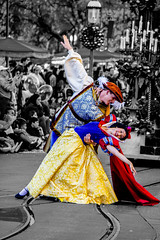 White as Snow (Shadowgamer85) Tags: dancing disneyland disney parade snowwhite liveshows selectivecolorization christmasfantasyparade disneyphotochallenge disneyphotochallengewinner disneyfacecharacters