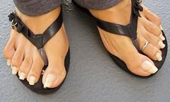 Dee_3.1 outside (Alex9_9) Tags: sexy feet foot long flipflops toenails toenailsfeettoestoerings