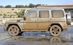 Mercedes G 65 AMG V12 biturbo - Covered in mud (David Villarreal Fernndez) Tags: mud 4x4 mercedesbenz amg g65