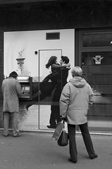 Waiting for Love / Money (@olirip) Tags: street people blackandwhite bw money paris france love random candid streetphotography rue atm photoderue fujix100 dechiffreme