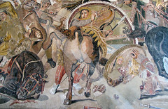 Alexander Mosaic, detail below chariot