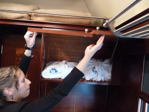 AL Andalus - luxury train in Spain, bathrobes in standard suite