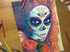 La Muerte (nobusao) Tags: drawing muerte calavera hidrocor lapisdecor