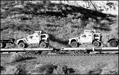 The Latest and Greatest Marine HumVee (greenthumb_38) Tags: railroad up train desert trains tradition silverwood pilgrimage bnsf cajon cajonpass canon40d desertrailroading jeffreybass cpsilverwood cajonpilgrimage pilgrimshill