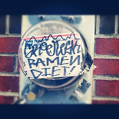 (croissantthief) Tags: seattle streetart graffiti stickerart graf stickers slap slaps slaptag seattlegraffiti groetesk ramendiet
