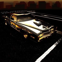 Kitsch-Cad (essichgurgn) Tags: auto car gold automobile elvis kitsch voiture cadillac eldorado chrome coche 1975 carro customized glam 1978 bling 1977 75 78 lowrider 77 macchina 1976 caddy cad 76 oto automvil karu customcar kustom motorcar glitz cotxe  kocsi   georgebarris   samochd  vehculo  otomobil   automobiel cadzilla  vettura   bl avtomobil makin   karru mba    awto oyto