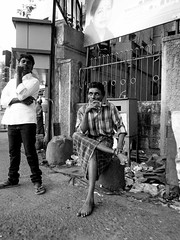 Street Scene (rameshsar) Tags: street people bw india mono candid photowalk chennai peoplewatch olynpus