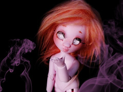Horcruxe ( P R I N C E S A ) Tags: pink strange rose dark doll dolls purple little smoke lila tiny bjd resin nympheas nymphette
