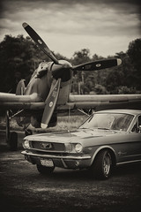 hurricane and the Mustang (Peng Chen) Tags: bw nikon hurricane bn warbirds d3 iiwar pengchen